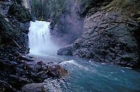 Rainbow Falls on Azure Lake. British Columbia Canada Wells Gray Provincial Park.