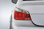Tail light close up detail view of a 2008 BMW M5 Sedan