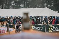 later winner David Van Der Poel (NED/Beobank Corendon)  leading the race. <br /> <br /> <br /> men's elite race<br /> Lampiris Zilvermeercross Mol / Belgium 2017