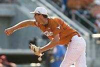 Texas Longhorns starting pitcher Taylor Jungmann #26 delivers against the Arizona State Sun Devls in NCAA Tournament Super Regional baseball on June 10, 2011 at Disch Falk Field in Austin, Texas. (Photo by Andrew Woolley / Four Seam Images)