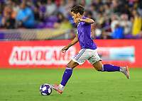 Orlando, FL - Wednesday July 31, 2019:  Jonathan dos Santos #8 during an Major League Soccer (MLS) All-Star match between the MLS All-Stars and Atletico Madrid at Exploria Stadium.