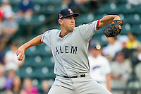 Salem Red Sox starting pitcher Matt Barnes #35 in action against the Winston-Salem Dash at BB&T Ballpark on May 5, 2012 in Winston-Salem, North Carolina.  Barnes struck out 12 batters over 6 innings in his Carolina League debut.  (Brian Westerholt/Four Seam Images)