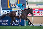 MAR 28,2015:Brown Panther,ridden by Richard Kingstone,wins the Dubai Gold Cup at Meydan in Dubai,UAE. Kazushi Ishida/ESW/CSM