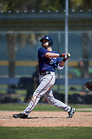 Minnesota Twins Aaron Whitefield (5) during a minor league Spring Training game against the Baltimore Orioles on March 17, 2017 at the Buck O'Neil Baseball Complex in Sarasota, Florida.  (Mike Janes/Four Seam Images)