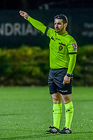referee Pierre Tirone pictured during a female soccer game between Sporting Charleroi and KRC Genk Ladies on the 9th matchday of the 2020 - 2021 season of Belgian Scooore Womens Super League , friday 11 th of December 2020  in Marcinelle , Belgium . PHOTO SPORTPIX.BE | SPP | STIJN AUDOOREN
