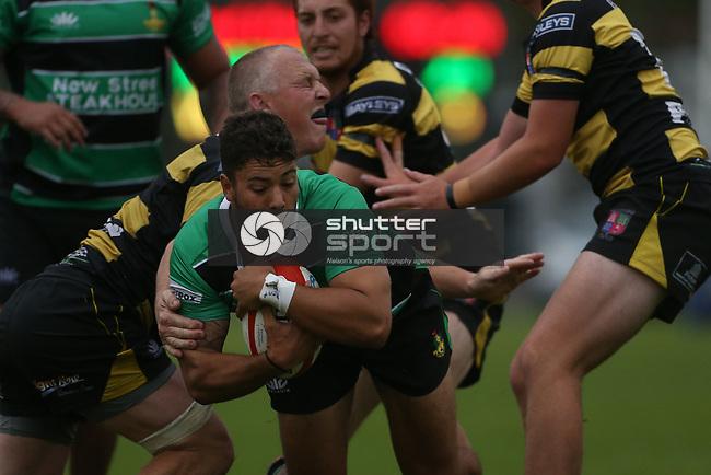 NELSON, NEW ZEALAND -APRIL 10: Div 1 Rugby Marist v Waitohi Saturday 10  April 2021,Trafalgar Parkl,Nelson New Zealand. (Photo by Evan Barnes Shuttersport Limited)