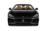 Car photography straight front view of a 2019 Maserati Gran-Cabrio Sport 2 Door Convertible Front View