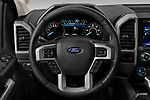 Car pictures of steering wheel view of a 2020 Ford F-150 Lariat 4 Door Pick-up Steering Wheel