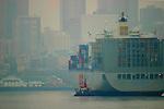 Seattle, container ship, Port of Seattle, Elliott Bay, Puget Sound, Washington State, Pacific Northwest, USA,