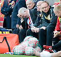::  ABERDEEN MANAGER CRAIG BROWN FEELS THE PRESSURE ::.25/04/2011  sct_jsp020_hamilton_v_aberdeen  .Copyright  Pic : James Stewart.James Stewart Photography 19 Carronlea Drive, Falkirk. FK2 8DN      Vat Reg No. 607 6932 25.Telephone      : +44 (0)1324 570291 .Mobile              : +44 (0)7721 416997.E-mail  :  jim@jspa.co.uk.If you require further information then contact Jim Stewart on any of the numbers above........