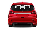 Straight rear view of 2021 Ford S-Max ST-Line 5 Door Mini MPV Rear View  stock images