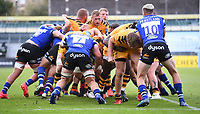 31st August 2020; Recreation Ground, Bath, Somerset, England; English Premiership Rugby, the Wasps rolling maul allows Tom Willis of Wasps to score