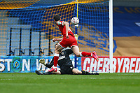 Ashley Nadesan of Crawley Town scores the first goal for his team during AFC Wimbledon vs Crawley Town, Emirates FA Cup Football at Plough Lane on 29th November 2020