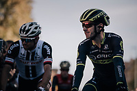 Adam Yates (GBR/Orica-Scott) on his way to sign-on<br /> <br /> Il Lombardia 2017<br /> Bergamo to Como (ITA) 247km