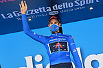 Filippo Ganna (ITA) Ineos Grenadiers retains the mountains Maglia Azzurra at the end of Stage 8 of the 103rd edition of the Giro d'Italia 2020 running 200km from Giovinazzo to Vieste, Sicily, Italy. 10th October 2020.  <br /> Picture: LaPresse/Gian Mattia D'Alberto | Cyclefile<br /> <br /> All photos usage must carry mandatory copyright credit (© Cyclefile | LaPresse/Gian Mattia D'Alberto)