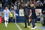 CD Leganes' Jonathan Silva, coach Mauricio Pellegrino and Deportivo Alaves' coach Abelardo Fernandez  during La Liga match. November 23,2018. (ALTERPHOTOS/Alconada)