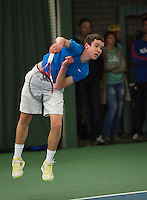 Rotterdam, The Netherlands, 15.03.2014. NOJK 14 and 18 years ,National Indoor Juniors Championships of 2014, Maikel Borg (NED)<br /> Photo:Tennisimages/Henk Koster