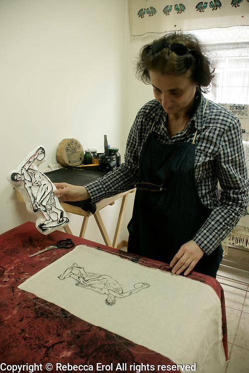 Yazma: traditional textile printing in Istanbul, Turkey, by Veliye Ozdemir Marti