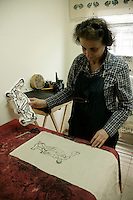 Yazma: traditional textile printing in Istanbul, Turkey, by Veliye Ozdemir Marti