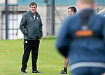 St Johnstone Training….15.09.17<br />Manager Tommy Wright pictured during training this morning at McDiarmid Park ahead of tomorrow's game at Dundee<br />Picture by Graeme Hart.<br />Copyright Perthshire Picture Agency<br />Tel: 01738 623350  Mobile: 07990 594431