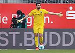 Stefanos Kapino (Nr.1, SV Sandhausen) am Ball  beim Spiel in der 2. Bundesliga, SV Sandhausen - Wuerzburger Kickers.<br /> <br /> Foto © PIX-Sportfotos *** Foto ist honorarpflichtig! *** Auf Anfrage in hoeherer Qualitaet/Aufloesung. Belegexemplar erbeten. Veroeffentlichung ausschliesslich fuer journalistisch-publizistische Zwecke. For editorial use only. For editorial use only. DFL regulations prohibit any use of photographs as image sequences and/or quasi-video.