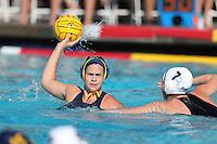 BERKELEY, CA - November 26, 2016: Cal Bears Women's Water Polo team vs. the Long Beach State 49ers at Legends Aquatic Center. Final score, Cal Bears 12, Long Beach State 49ers 6.