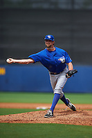 Dunedin Blue Jays pitcher Wil Browning (26) delivers a pitch during a game against the Charlotte Stone Crabs on July 26, 2015 at Charlotte Sports Park in Port Charlotte, Florida.  Charlotte defeated Dunedin 2-1 in ten innings.  (Mike Janes/Four Seam Images)