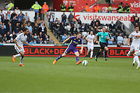 SWANSEA, WALES - MAY 17: during the Premier League match between Swansea City and Manchester City at The Liberty Stadium on May 17, 2015 in Swansea, Wales. (photo by Athena Pictures/Getty Images)