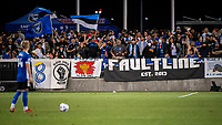 SAN JOSE, CA - AUGUST 13: San Jose Earthquakes fans watch a free kick during a game between San Jose Earthquakes and Vancouver Whitecaps at PayPal Park on August 13, 2021 in San Jose, California.