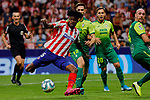 Thomas Teye of Atletico de Madrid in action during La Liga match between Atletico de Madrid and SD Eibar at Wanda Metropolitano Stadium in Madrid, Spain.September 01, 2019. (ALTERPHOTOS/A. Perez Meca)