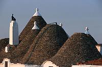 Europe/Italie/La Pouille/Env d'Alberobello: Détail trulli