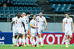Adelaide United Forward Sergio Cirio (C) celebrating his goal with his teammates during the AFC Champions League 2017 Group Stage - Group H match between Jeju United FC (KOR) vs Adelaide United (AUS) at the Jeju World Cup Stadium on 11 April 2017 in Jeju, South Korea. Photo by Marcio Rodrigo Machado / Power Sport Images