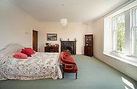 """BNPS.co.uk (01202) 558833. <br /> Pic: KnightFrank/BNPS<br /> <br /> Pictured: Bedroom. <br /> <br /> A castle that was burnt down by a pirate, involved in the English Civil War and has been in the same family for five centuries is on the market for offers over £650,000.<br /> <br /> Kilberry Castle, which dates back to the 15th century, has an incredible history and still has a wealth of original features including a 288-year-old mausoleum.<br /> <br /> It sits in 21 acres of land on the Scottish west coast, with stunning views over Kilberry Bay and out to the islands of Islay, Jura and Gigha.<br /> <br /> The four-storey tower house now needs a buyer """"with deep pockets and great imagination"""" to carry out a complete refurbishment but it has a lot of potential."""