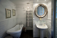 The guest bathroom at Nicole Bekdache's home, Grasse, France, 30 March 2012. She brought the bath to France from the UK.