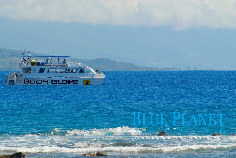 Body Glove tour boat, Kailua Kona, The Big Island of Hawaii