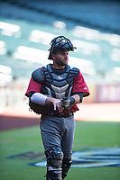 Arizona Diamondbacks catcher Tim Susnara (40) during an Instructional League game against the Kansas City Royals at Chase Field on October 14, 2017 in Phoenix, Arizona. (Zachary Lucy/Four Seam Images)