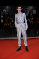 """VENICE, ITALY - SEPTEMBER 02: Timothee Chalamet attends """"The King"""" red carpet during the 76th Venice Film Festival at Sala Grande on September 02, 2019 in Venice, Italy. (Photo by Marck Cape/Inside foto)<br /> Venezia 02/09/2019"""