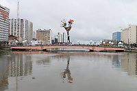 Recife (PE), 21/02/2020 - Carnaval-Recife - Galo da Madrugada montado na Ponte Duarte Coelho, nesta sexta-feira (21) no centro do Recife. (Foto: Pedro De Paula/Codigo 19/Codigo 19)