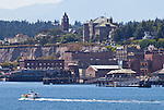 Port Townsend, waterfront, historic buildings, sailboats, Puget Sound, Olympic Peninsula, Washington State, Pacific Northwest, USA,