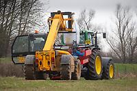 8.3.2021 Loading nitrogen into a spreader<br /> ©Tim Scrivener Photographer 07850 303986<br />      ....Covering Agriculture In The UK....