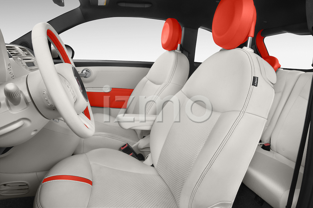 Front seat view of a 2014 Fiat 500e Hatchback 3 Door Hatchback Front Seat car photos