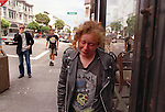 Shera cries after having a argument with Travis before he departs for Wyoming, leaving her  alone homeless on Haight Street.