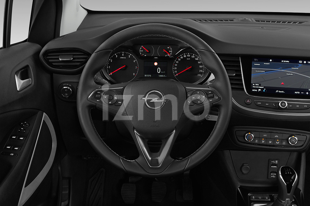 Car pictures of steering wheel view of a 2019 Opel Crossland-X Edition 5 Door SUV Steering Wheel