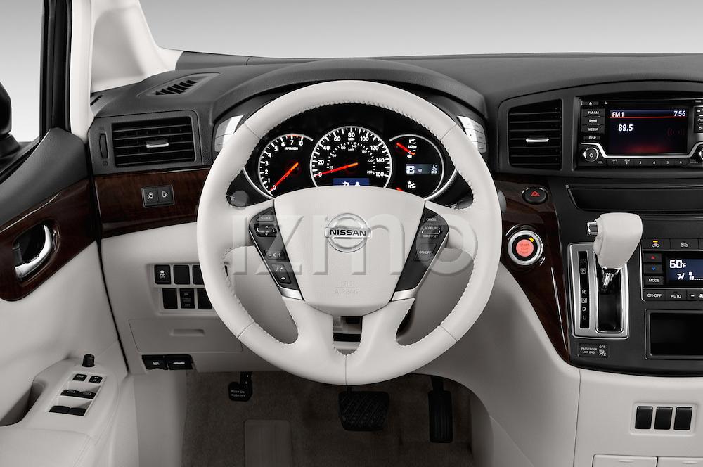 Car pictures of steering wheel view of a2015 Nissan Quest SV 5 Door Minivan Steering Wheel