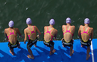 01 SEP 2013 - SARTROUVILLE, FRA - The Tri Val de Gray team waits for the start of the women's Grand Prix de Triathlon de Sartrouville in Sartrouville, France (PHOTO COPYRIGHT © 2013 NIGEL FARROW, ALL RIGHTS RESERVED)