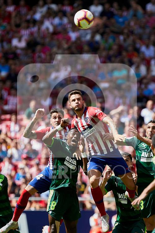 Atletico de Madrid's Saul Niguez and SD Eibar's Papakouli Diop during La Liga match. September 15, 2018. (ALTERPHOTOS/A. Perez Meca)