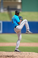 Miami Marlins pitcher Luis Palacios (15) during an Instructional League game against the Washington Nationals on September 26, 2019 at FITTEAM Ballpark of The Palm Beaches in Palm Beach, Florida.  (Mike Janes/Four Seam Images)