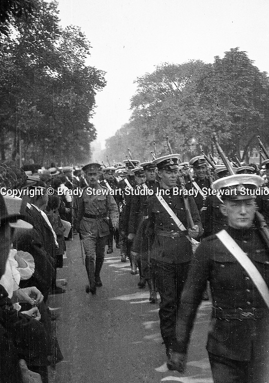 Toronto Ontario: Soldiers marching in one of the parades celebrating the 100th anniversary of the Battle of Lundy's Lane.