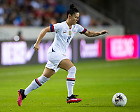 HOUSTON, TX - FEBRUARY 03: Ali Krieger #11 of the USA moves with the ball during a game between Costa Rica and USWNT at BBVA Stadium on February 03, 2020 in Houston, Texas.
