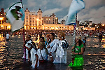"Rituals on the ""Day of Yemanja"", goddess of water, in Montevideo, Uruguay."